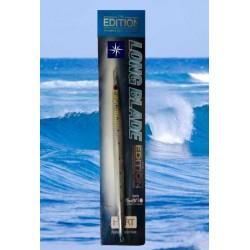 Señuelo Jigging Hart Long Blade Azul con puntos negros 150 gr