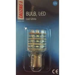 Bombilla 12V LED BAY15D blanco - 36 LEDs