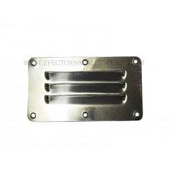 Rejilla ventilación inox 127 x 65